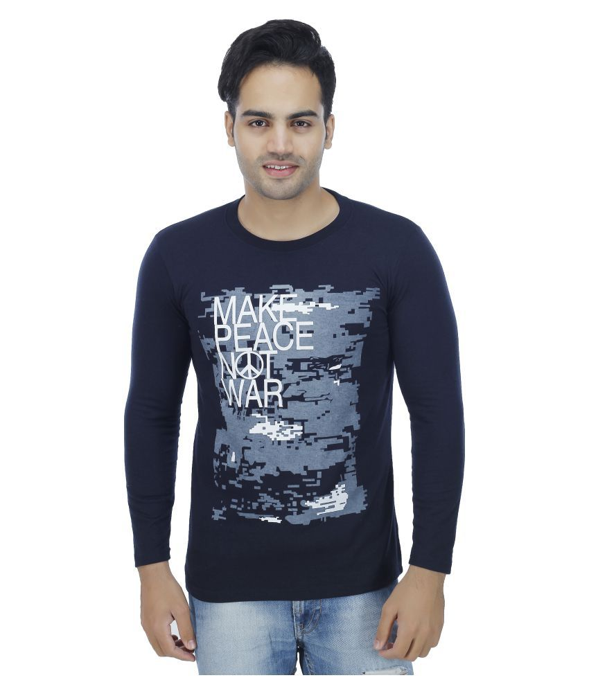 77b4f5f1e3f3 ADIDAS MEN NAVY 4 PRINTED ROUND NECK T SHIRT price at Flipkart ...