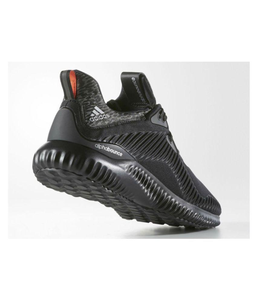 df493f12a28 Adidas Alpha Bounce Black Running Shoes - Buy Adidas Alpha Bounce ...