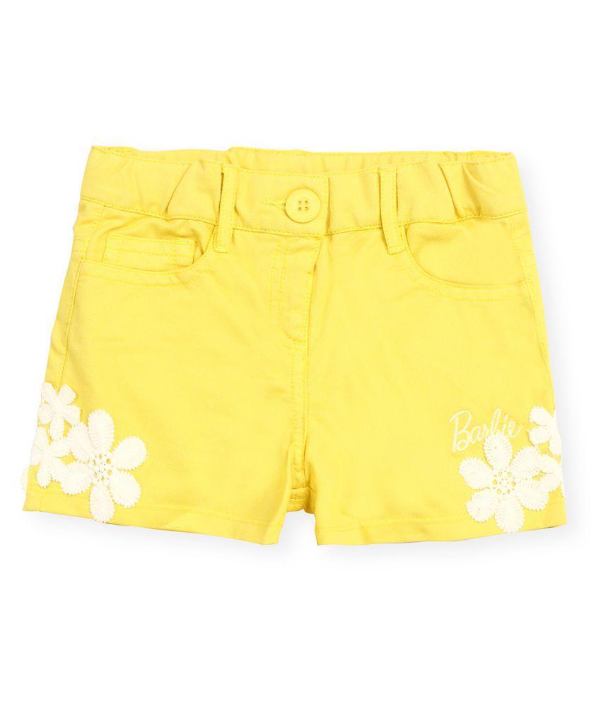 Basic Yellow Hot Pants