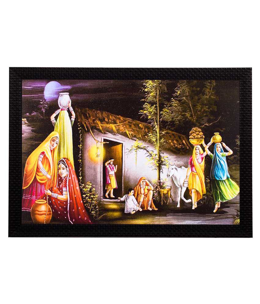eCraftIndia Wood Painting With Frame Single Piece