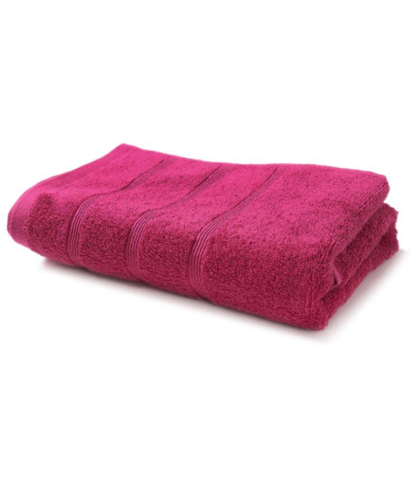 Trident Pink Cotton Bath Towels
