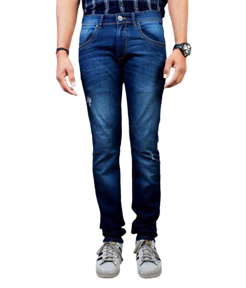 Pontiac Blue Regular Fit Jeans