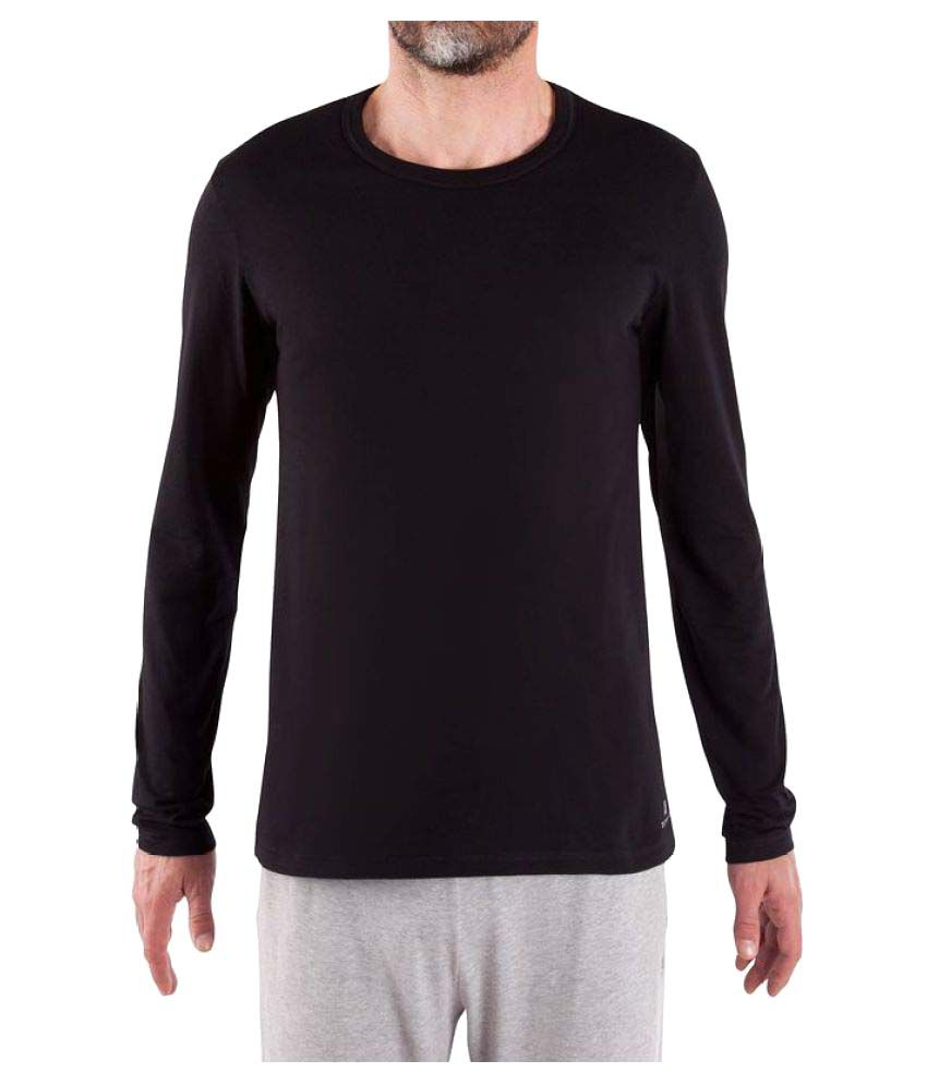 Domyos Comfort Plus Men's Fitness Essential Long-Sleeved T-Shirt By Decathlon