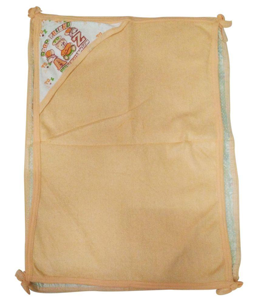Gold Dust Beige Swaddle cloth Baby Wrap cum blanket ( 60 cm × 45 cm - 1 pcs)