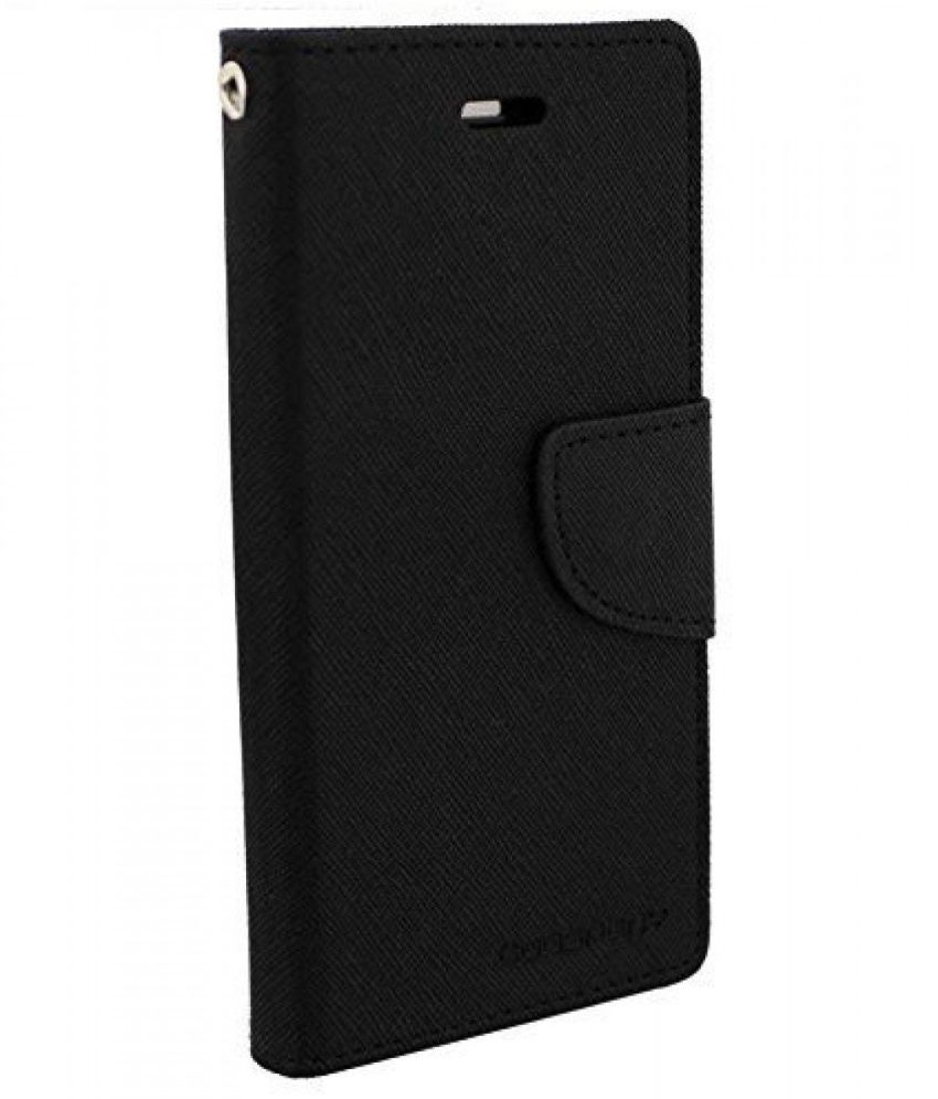 best website 3c518 486bc Gionee S6s Flip Cover by VPS - Black