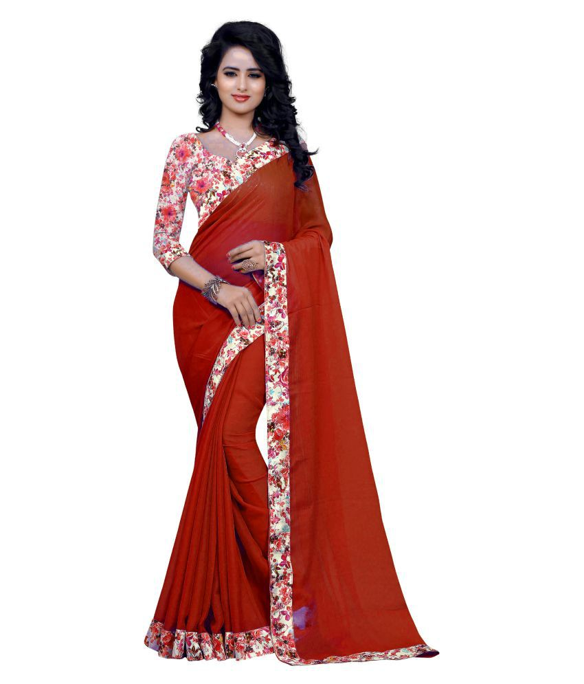 Mada Red Jacquard Saree