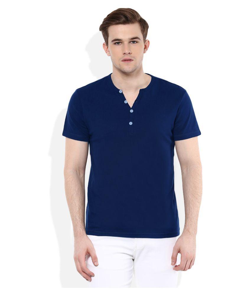 Gallop Blue Henley T-Shirt