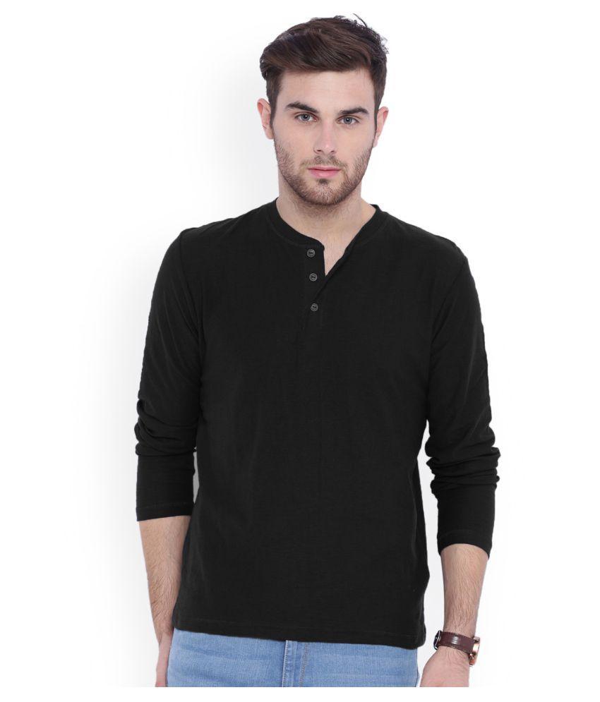 Gallop Black Henley T-Shirt