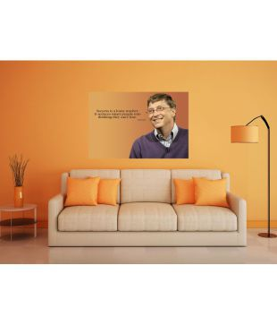 Booksreuse Bill Gates Motivational Quotes Paper Wall Poster