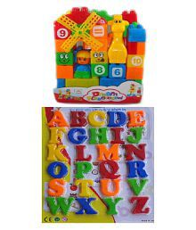 New Pinch 35 Pcs.Building Blocks with Magnetic Learning Alphabet Capital Letters