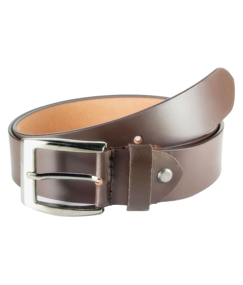 Garodia Leathercraft Brown Leather Casual Belts