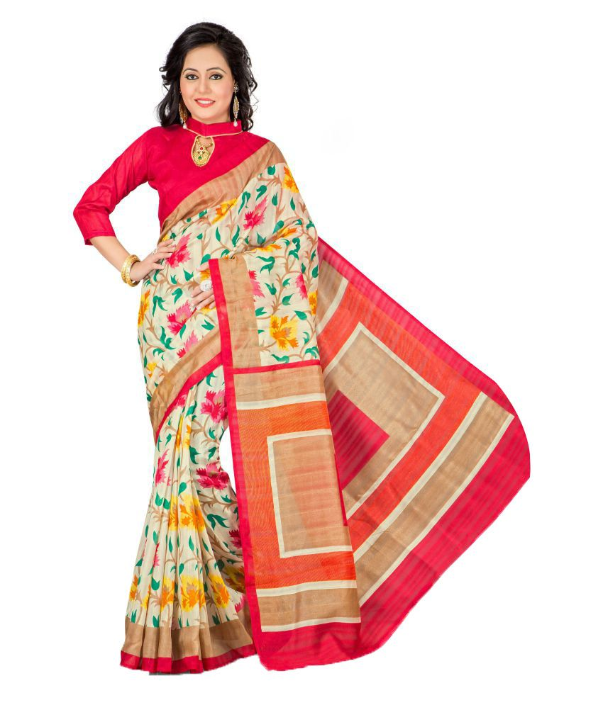 MC Multicoloured Bhagalpuri Cotton Saree