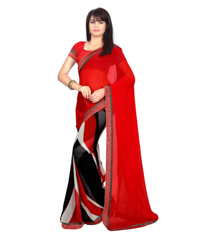 Senorita Fashion Multicoloured Georgette Saree