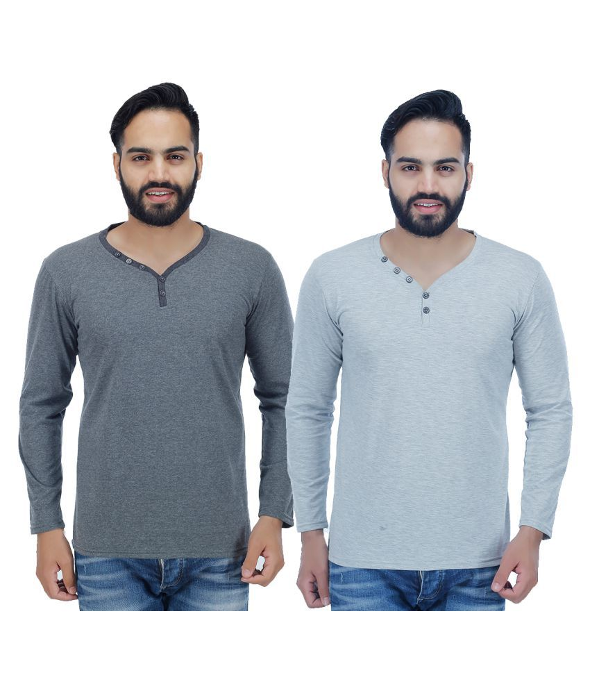 Christy's Collection Multi Henley T-Shirt Pack of 2