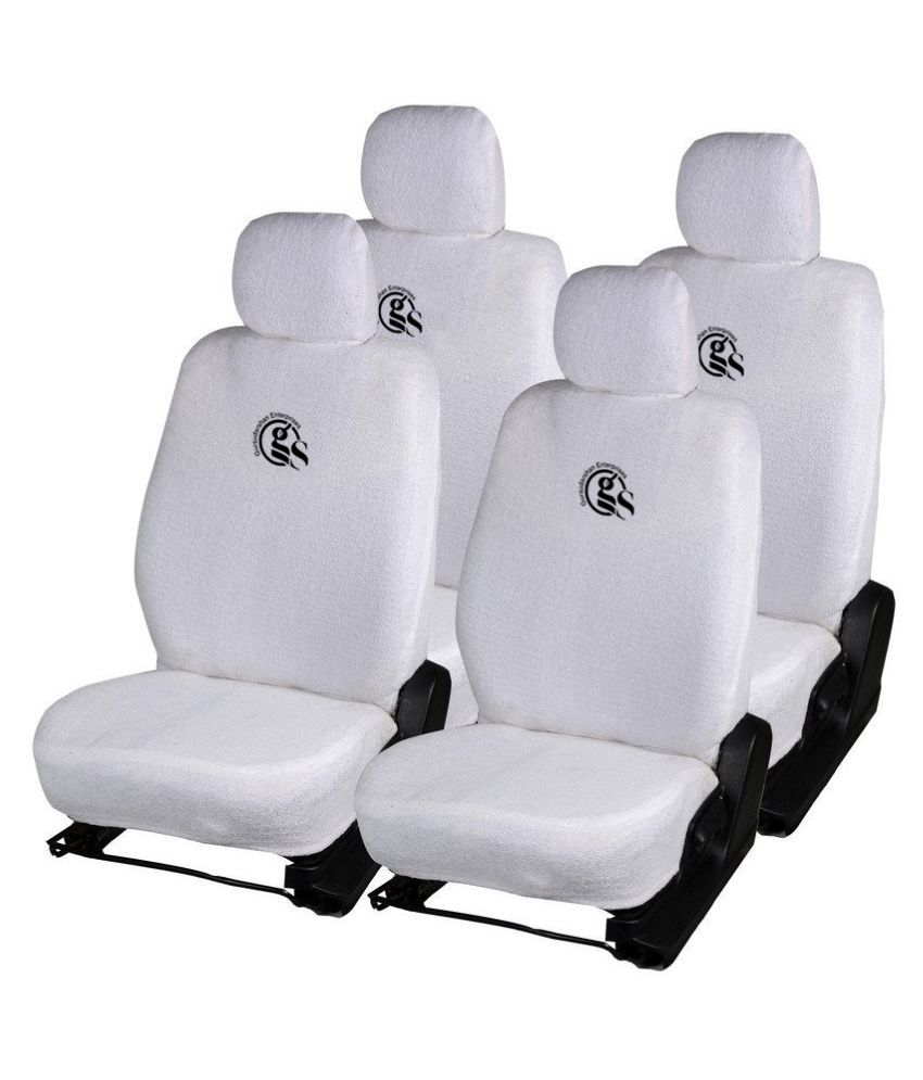 GS Towel Car Seat Covers White