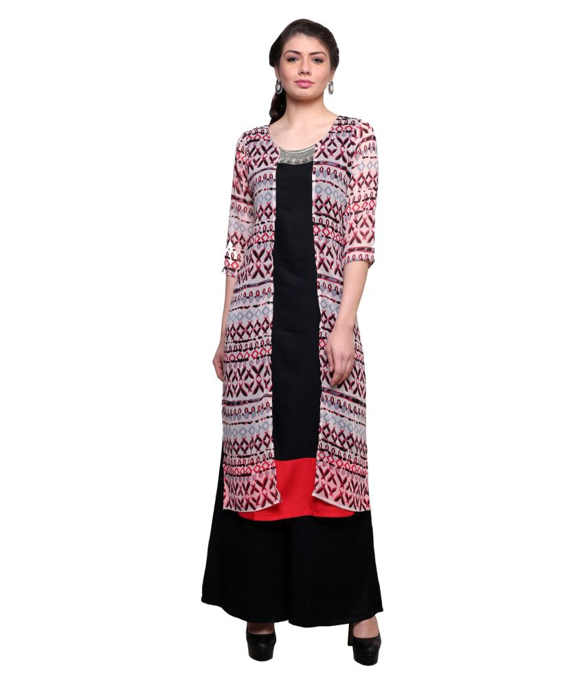 Bani Multicoloured Rayon Straight Kurti