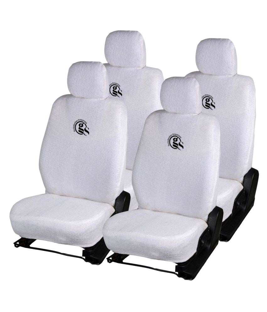 gs towel car seat covers white buy gs towel car seat covers white online at low price in india. Black Bedroom Furniture Sets. Home Design Ideas
