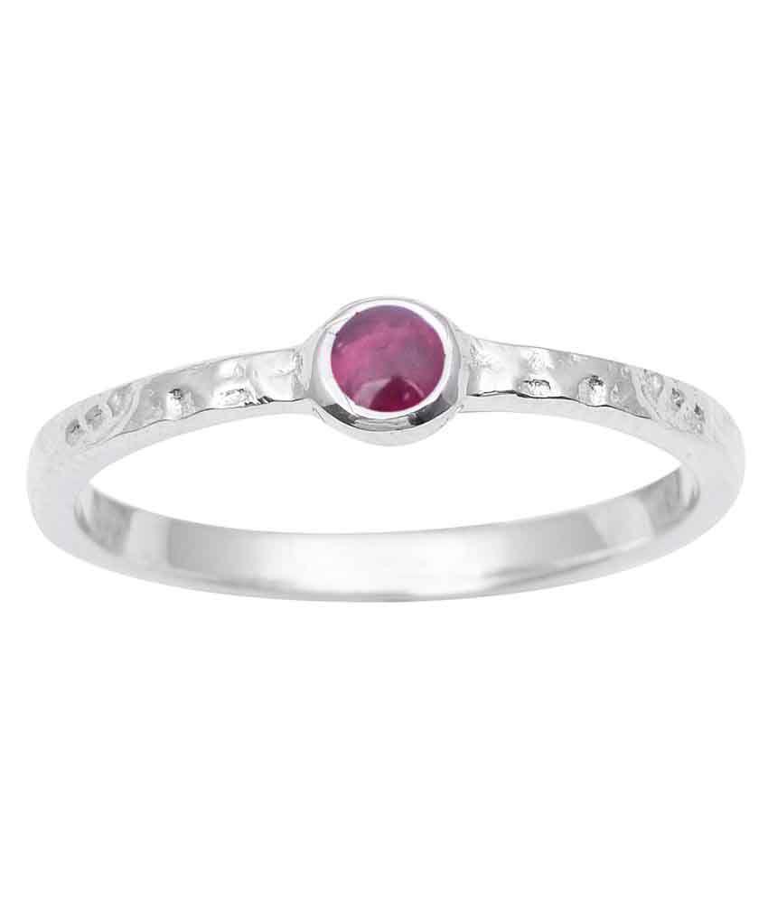 Shine Jewel 92.5 Silver Tourmaline Ring