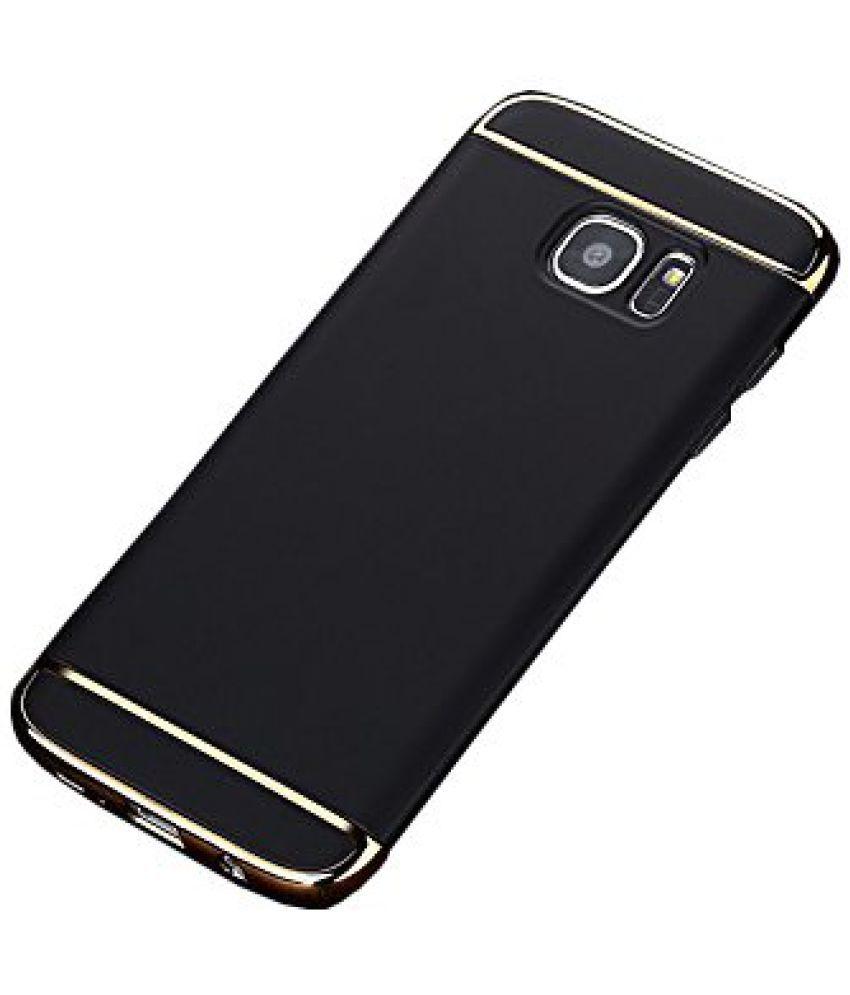 release date f5ff9 bbd18 Samsung Galaxy J7 Prime Plain Cases SUNNY FASHION - Black