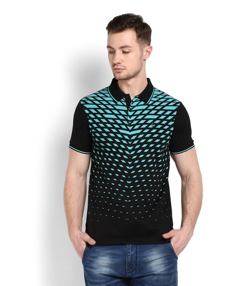 Arrow Sports Black Polo T-Shirt