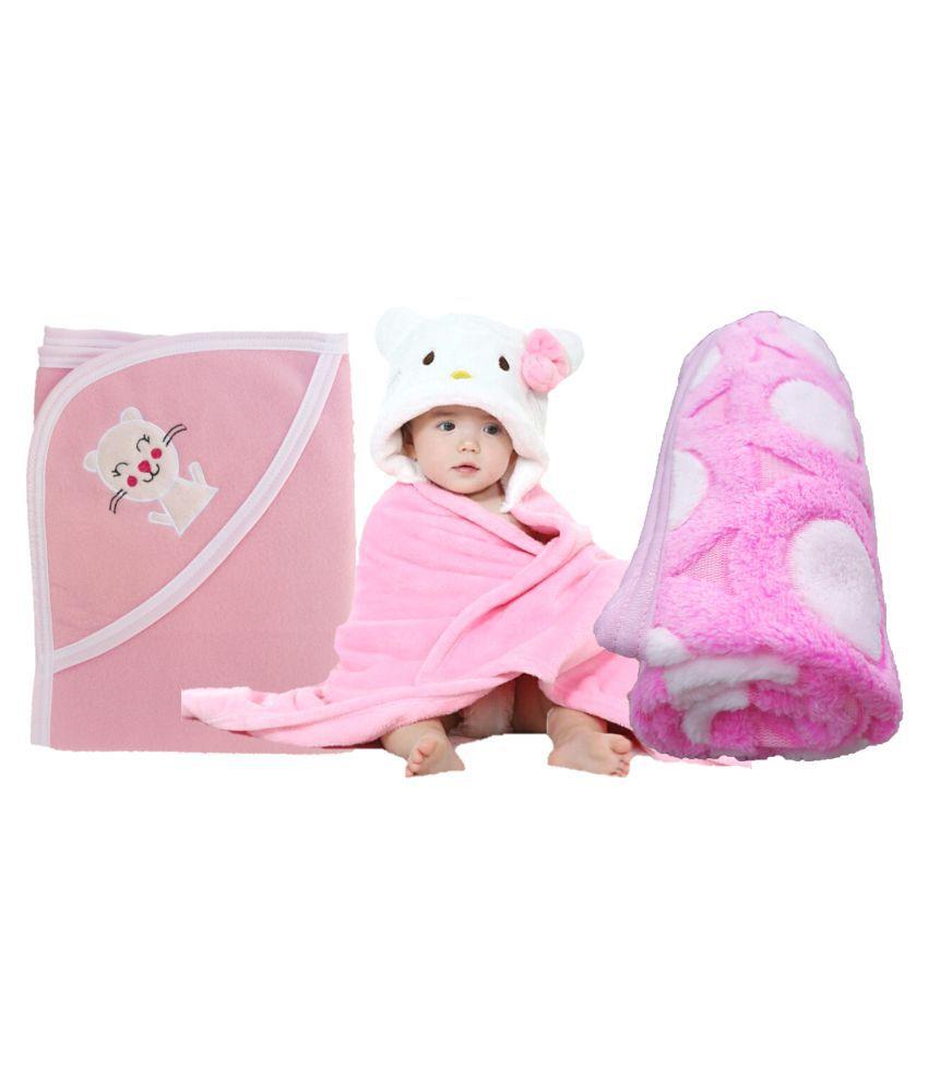 brandonn pink flannel baby blanket