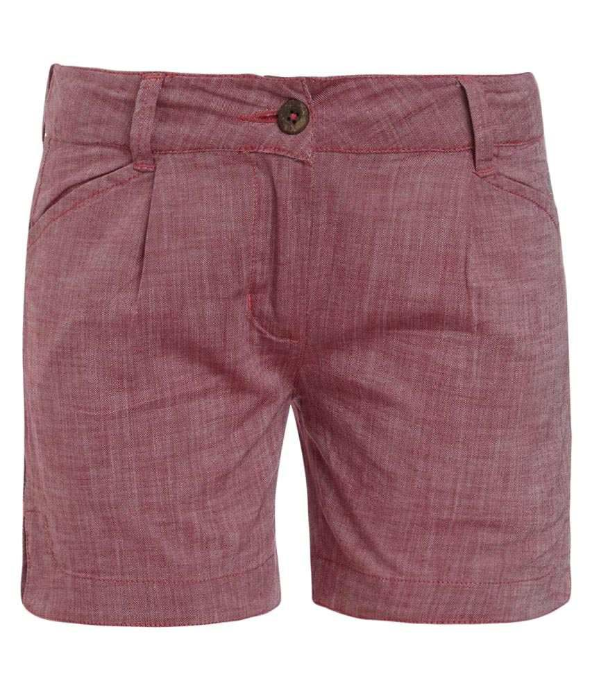 UFO Maroon Hot Pants