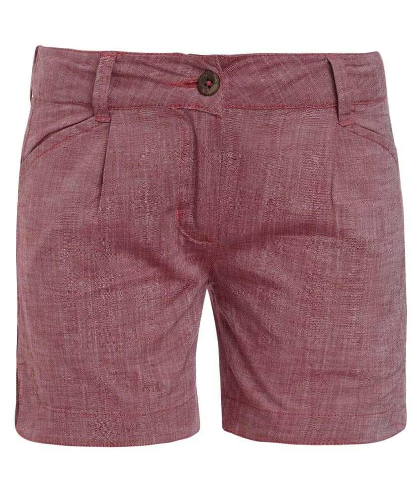 UFO Maroon Hot Pants