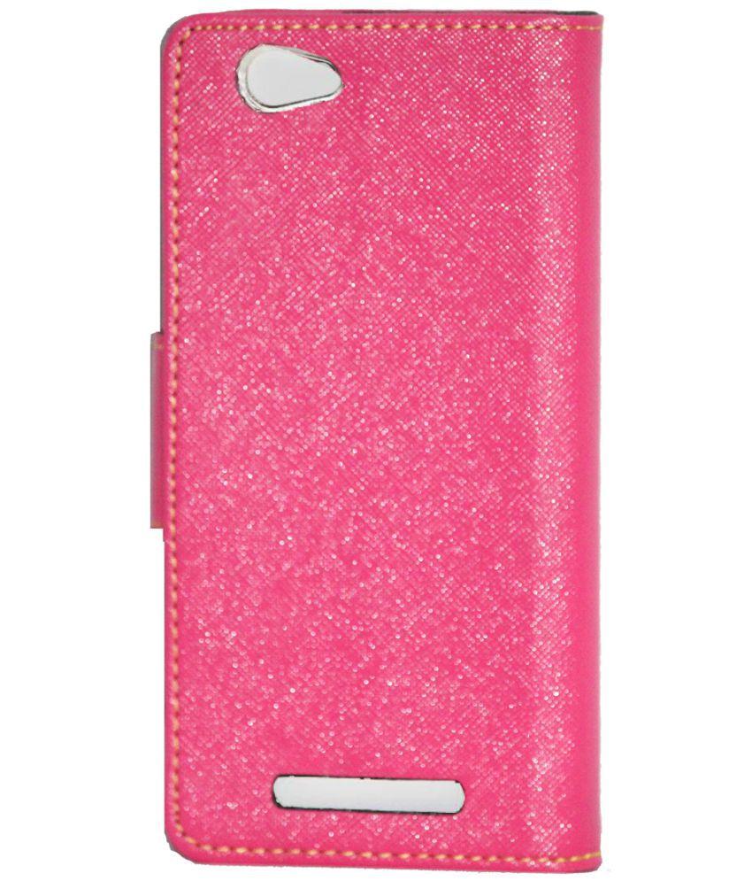 hot sale online 7dcd0 b714b Lava X17 4G Flip Cover by Gizmofreaks - Pink