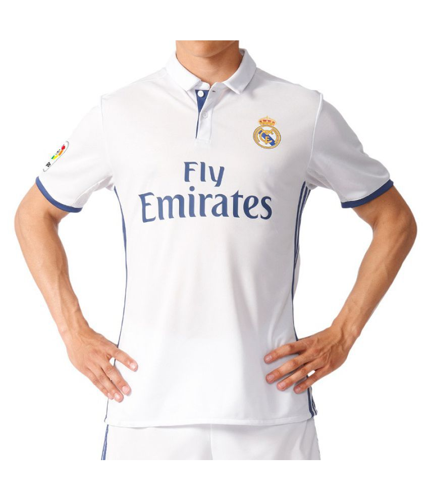 Navex White Real Madrid Football Jersey  Buy Online at Best Price on  Snapdeal fecdd2e93