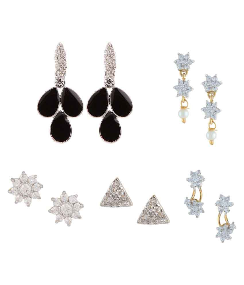 Archi Collection Multicolour Earrings - Pack of 5