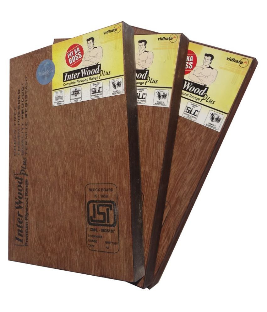 Buy Interwood Plus Plywood 12mm BWR Grade (303) 8*4 Online at Low