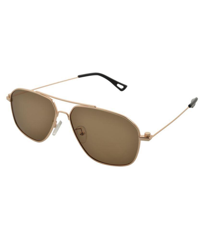 Versario Italy Brown Aviator Sunglasses ( VSG21114BRN3 )