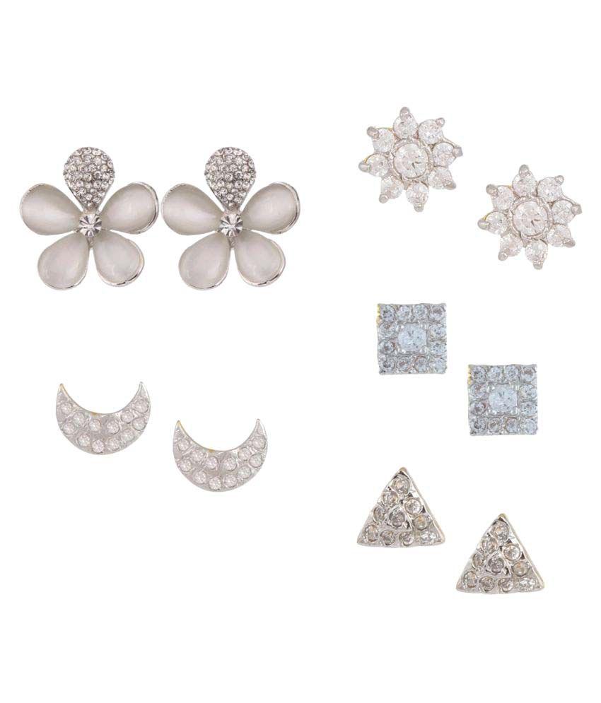 Efulgenz Earrings Combo for Women-Pair of 5