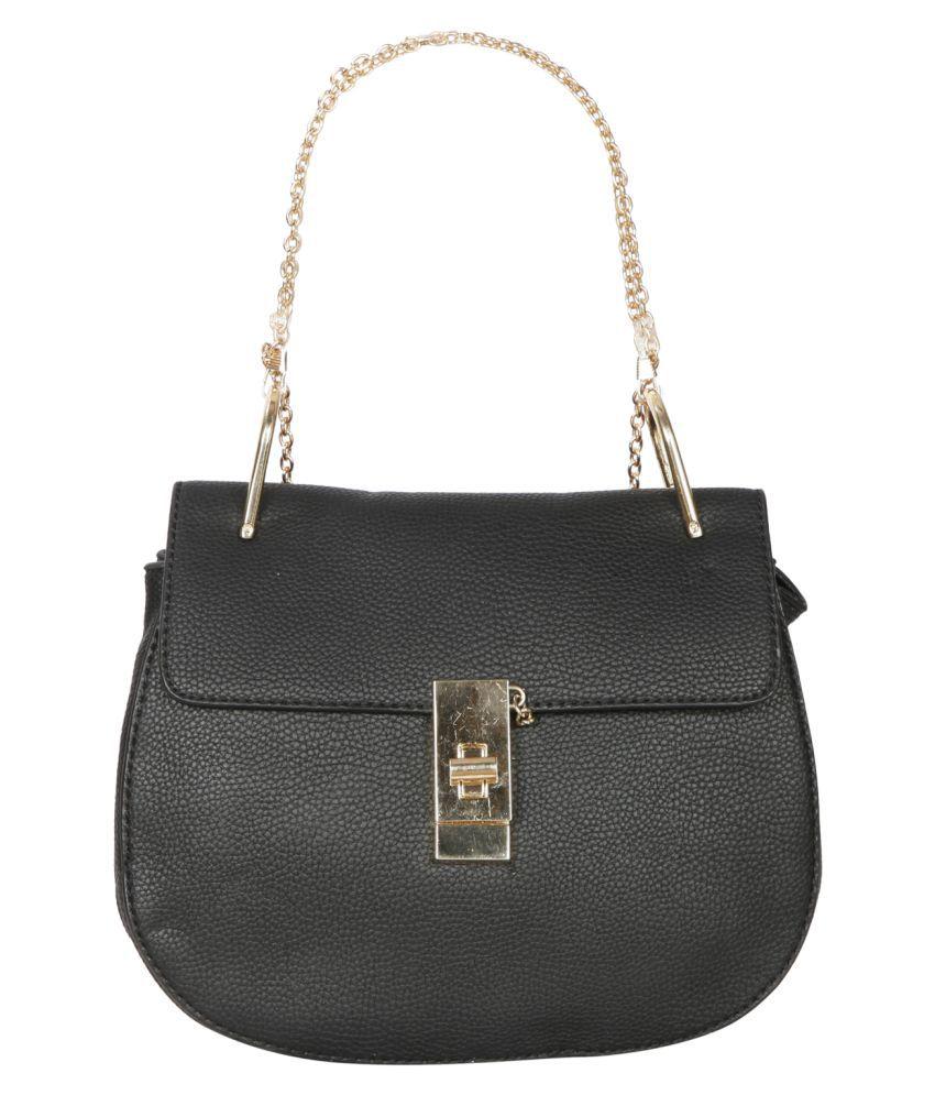 Bagkok Black P.U. Shoulder Bag