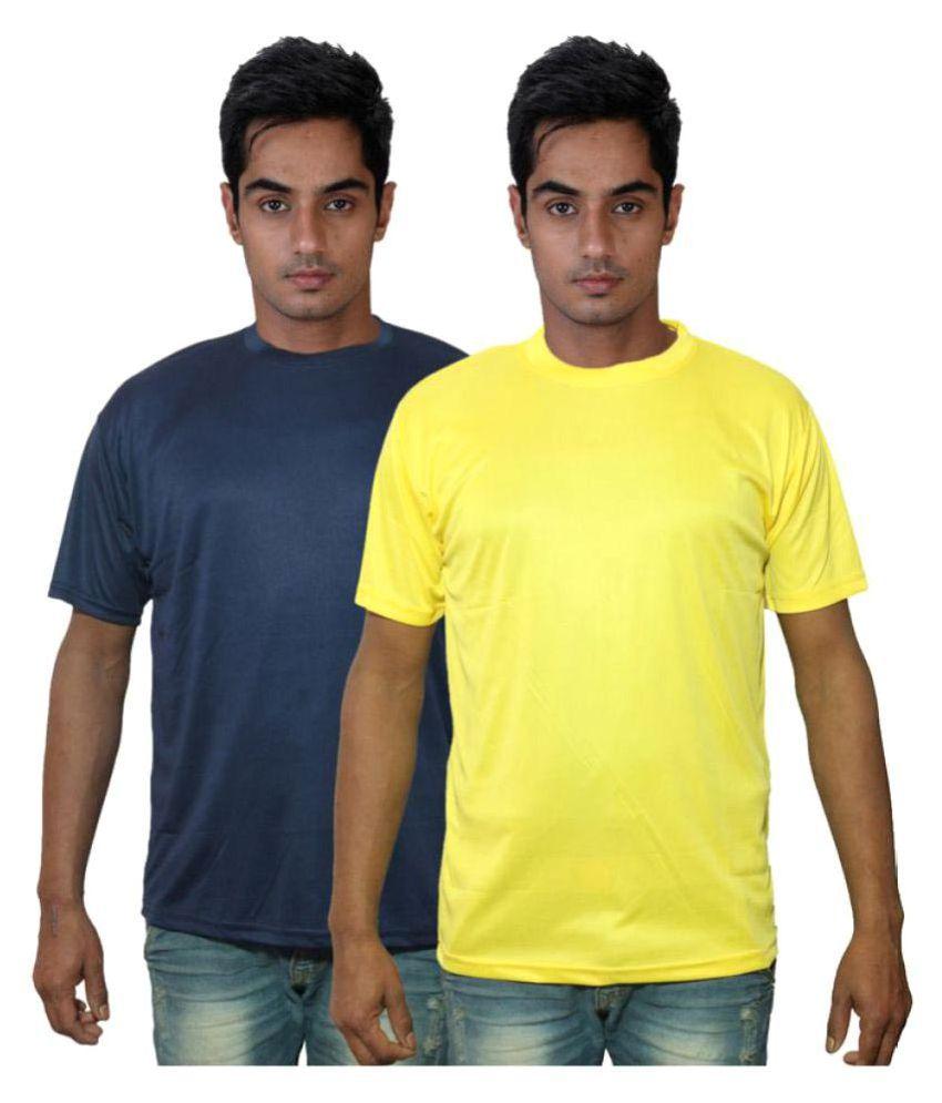 Dfnk Atlanta Multi Cotton Polo T-shirt Pack of 2