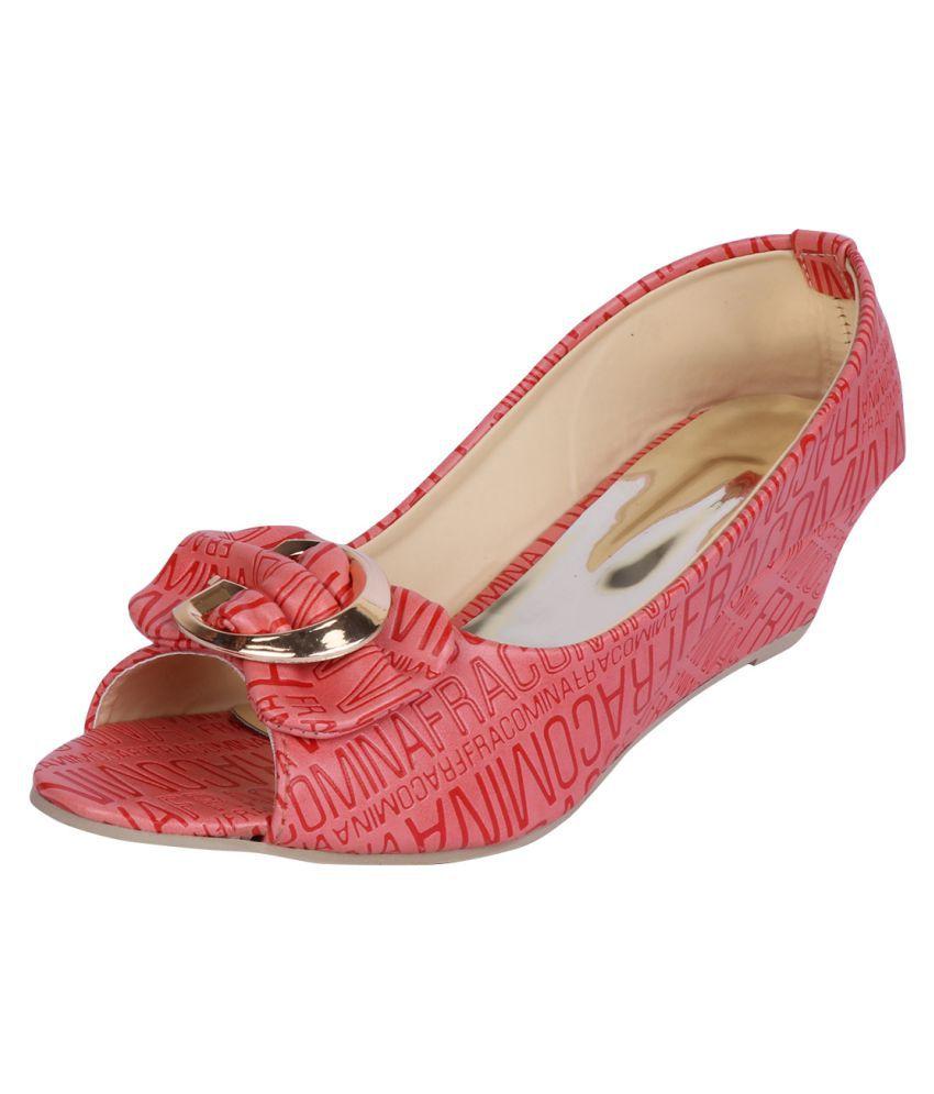 Smart Traders Pink Wedges Heels