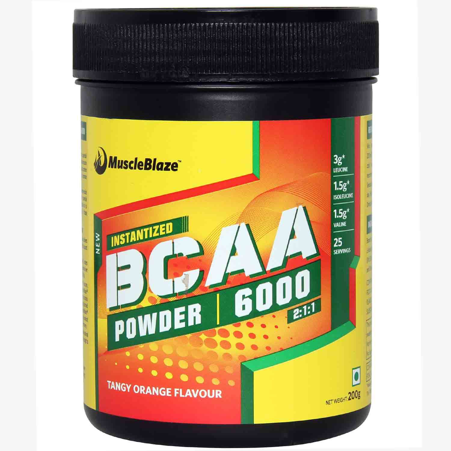 MuscleBlaze BCAA 6000 amino acid powder 0 44 lb 200g