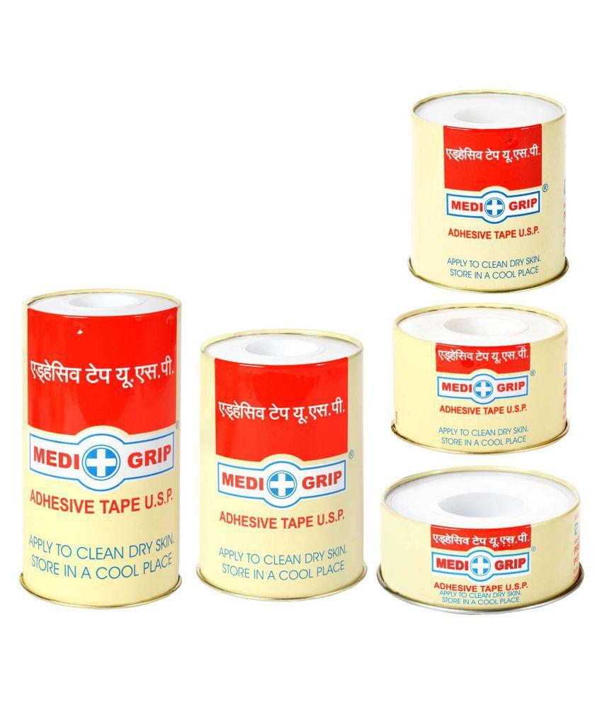 Medigrip Zinc Oxide Plaster (Adhesive Tape Usp) 2.50Cm*5Mtr Regular Cotton