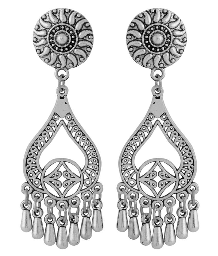 9fed3d0dd Voylla Oxidised Silver Hanging Earrings In Antique Design - Buy Voylla Oxidised  Silver Hanging Earrings In Antique Design Online at Best Prices in India on  ...