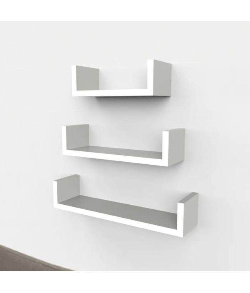 Fine Onlineshoppee Floating Shelf Wall Shelf Storage Shelf Decoration Shelf White Set Of 3 Best Image Libraries Barepthycampuscom