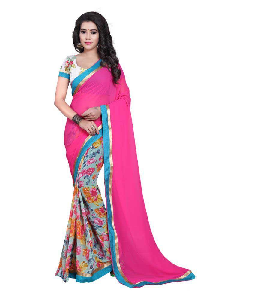 Kayaa Fashion Multicoloured Georgette Saree