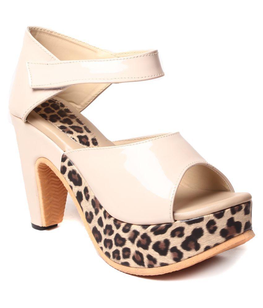 Trendy White Block Heels