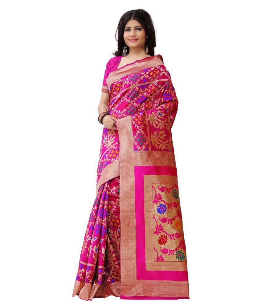 Just Fashion Multicoloured Art Silk Saree