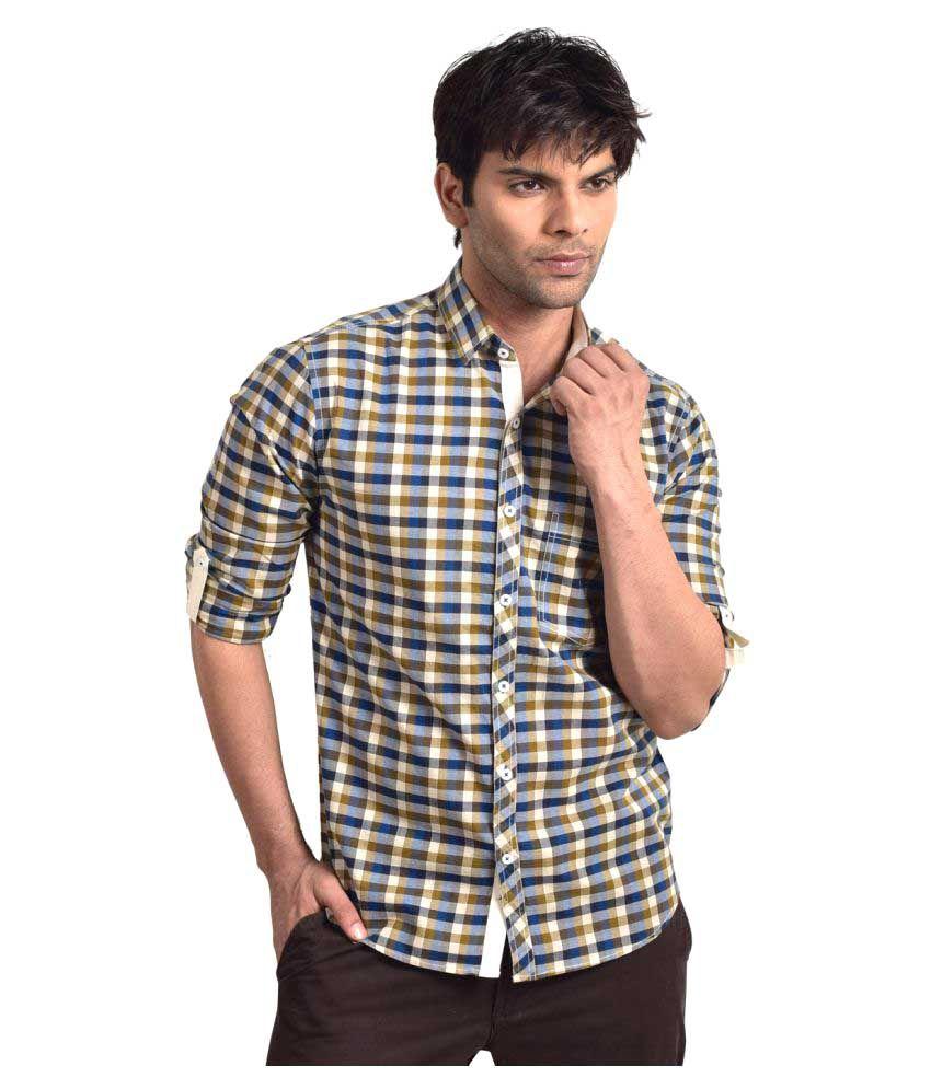 Bluvior Multi Casuals Slim Fit Shirt