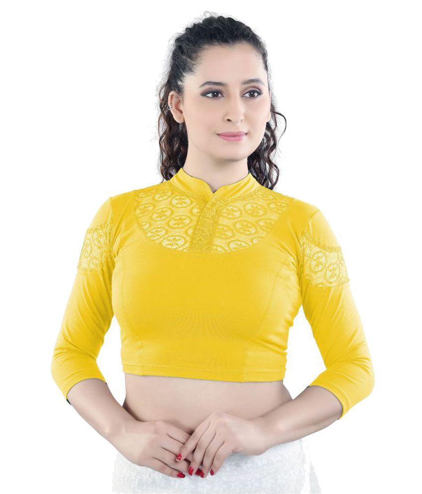Salwar Studio Yellow Net Back Blouse