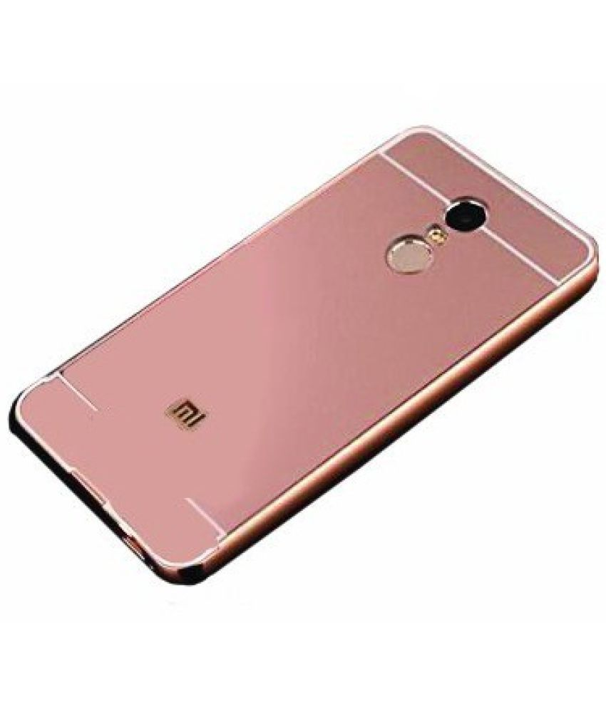 ... Xiaomi Redmi Note 4 Mirror Back Covers feomy - Rose Gold ...