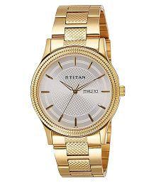 Titan Analog Silver Dial Men's Watch - 1650YM05