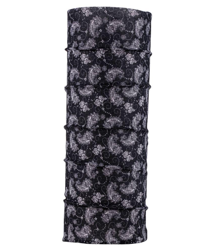Autofy Black Printed Polyester Headwraps