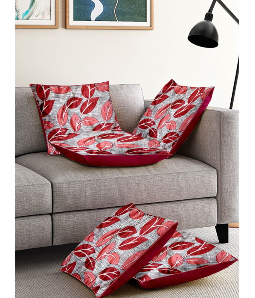 Cortina Set of 5 Polyester Cushion Covers 40X40 cm (16X16)