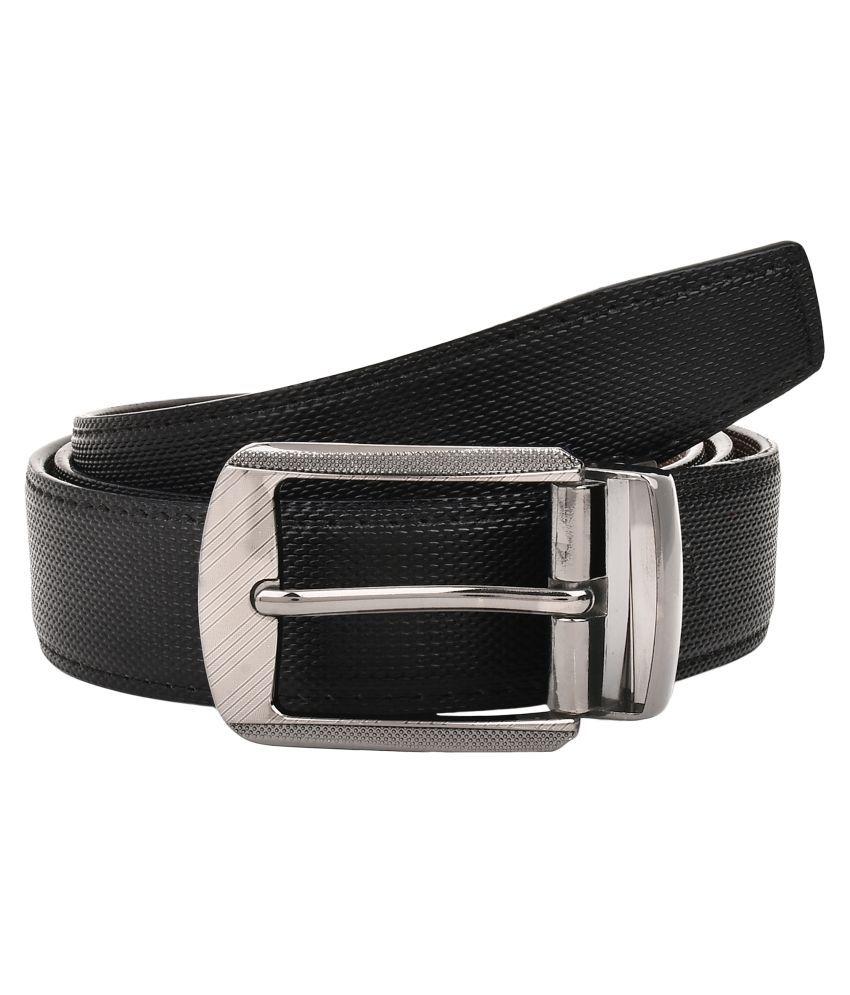 Creature Black PU Casual Belts